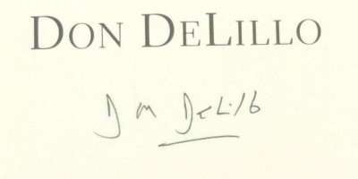 Don DeLillo signed