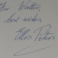 signature of author Ellis Peters
