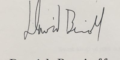 David Benioff signature