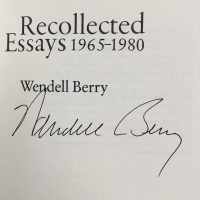 Wendell Berry signature