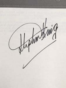 Stephen King signature
