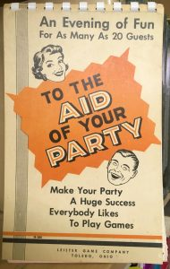 Antique party games book